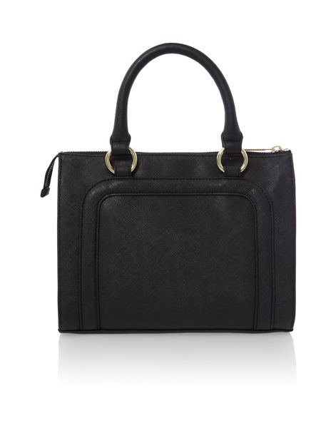 Armani Jeans Black small saffiano tote bag