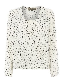 Star Printed Patsy Blouse
