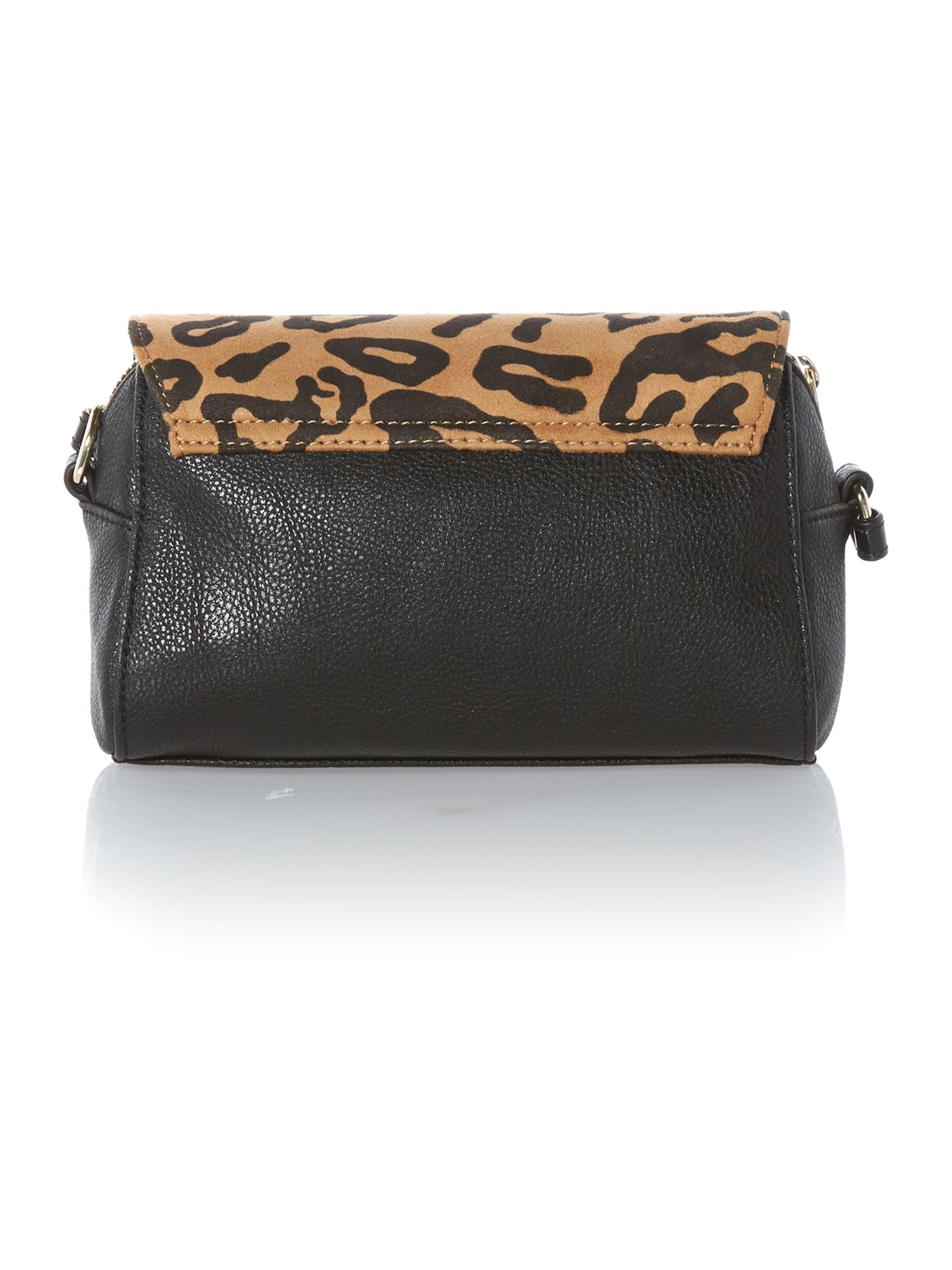 Leopard small flapover cross body bag