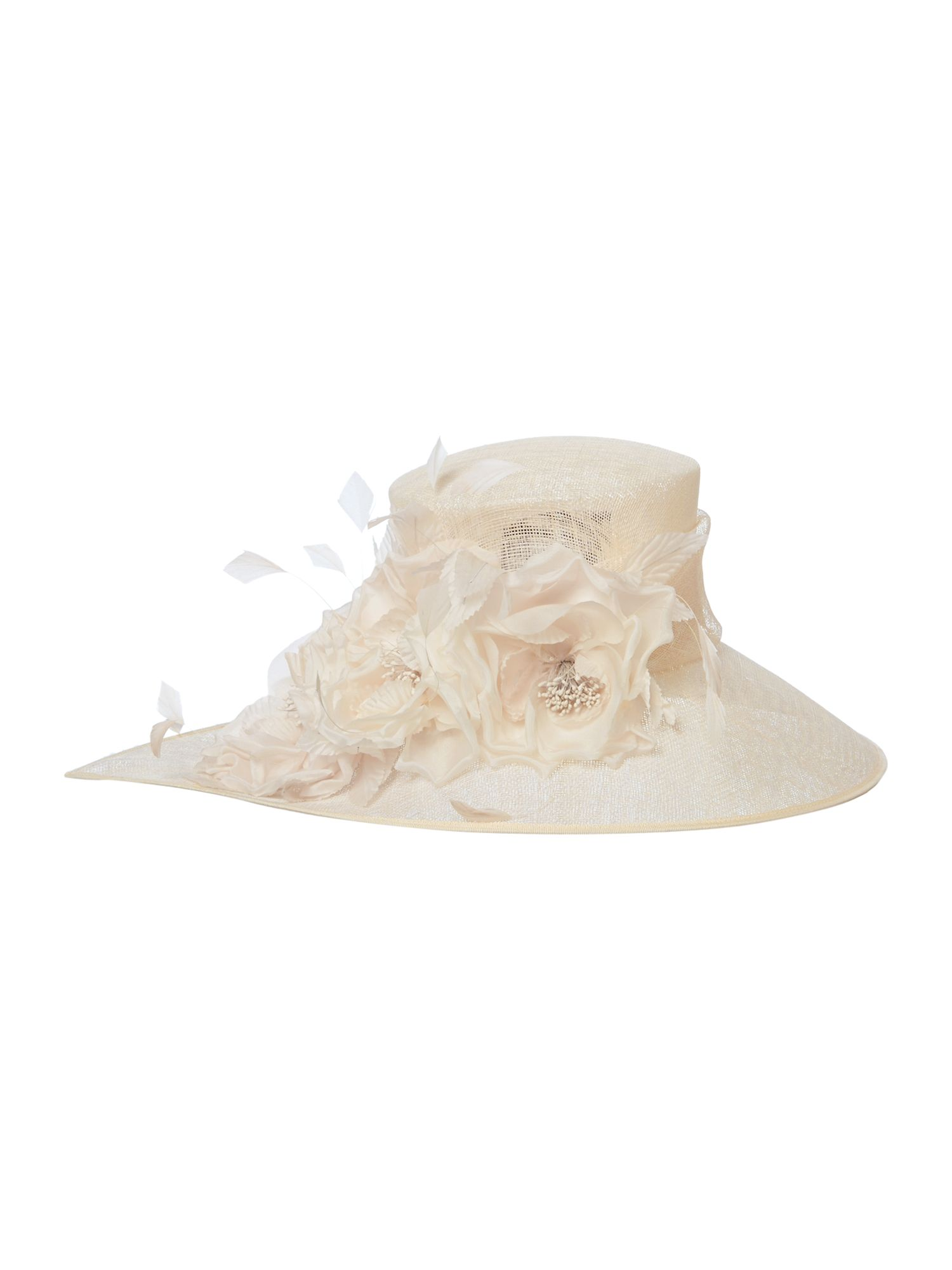Flower pointed mid brim hat