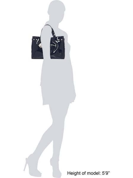 Armani Jeans Patent navy tote bag