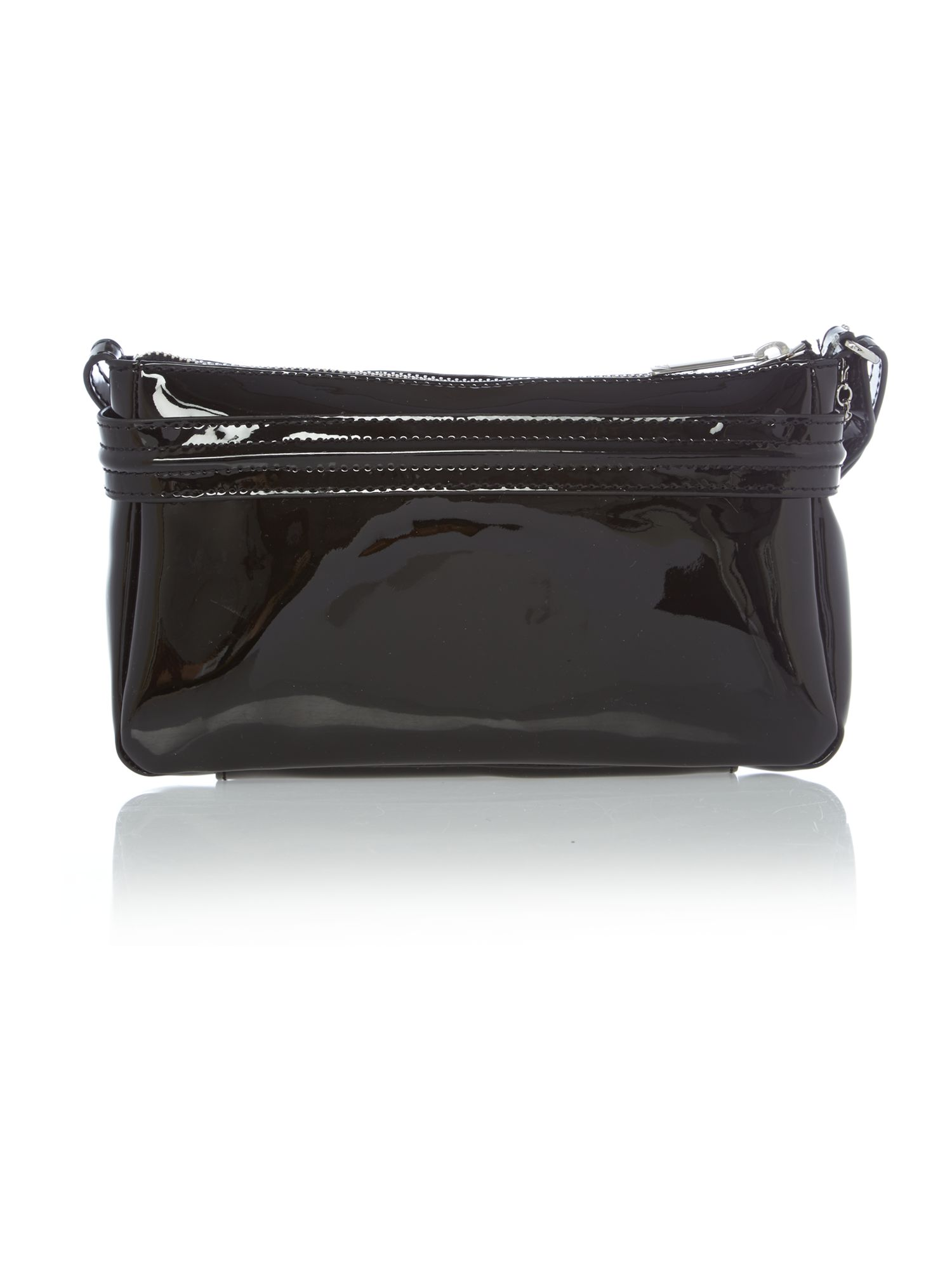 Black patent small cross body