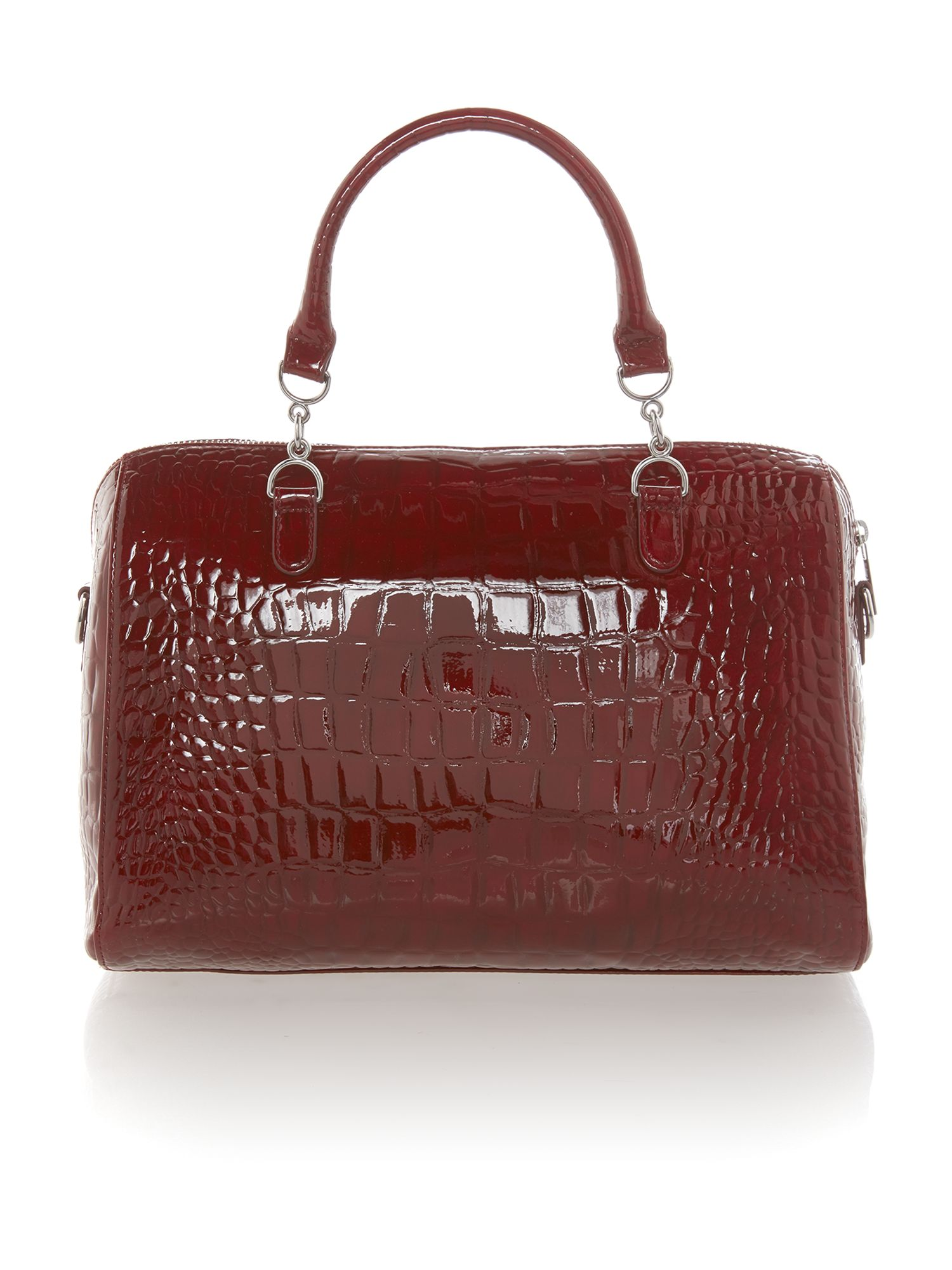 Red medium croc bowling bag
