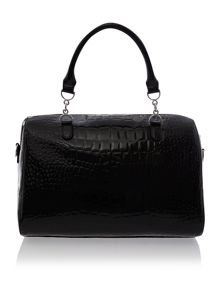 Black medium croc bowling bag