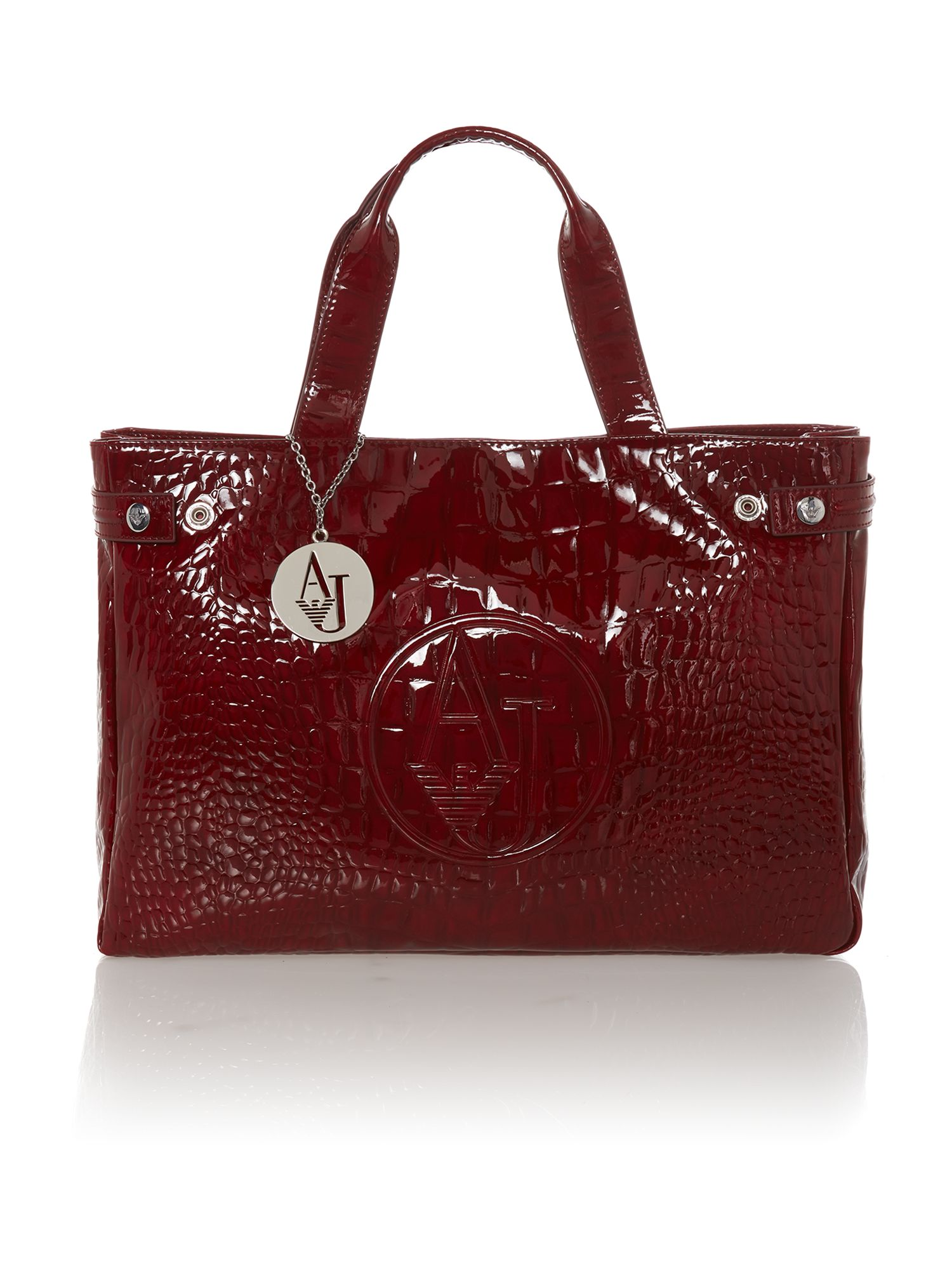 Red medium croc tote bag