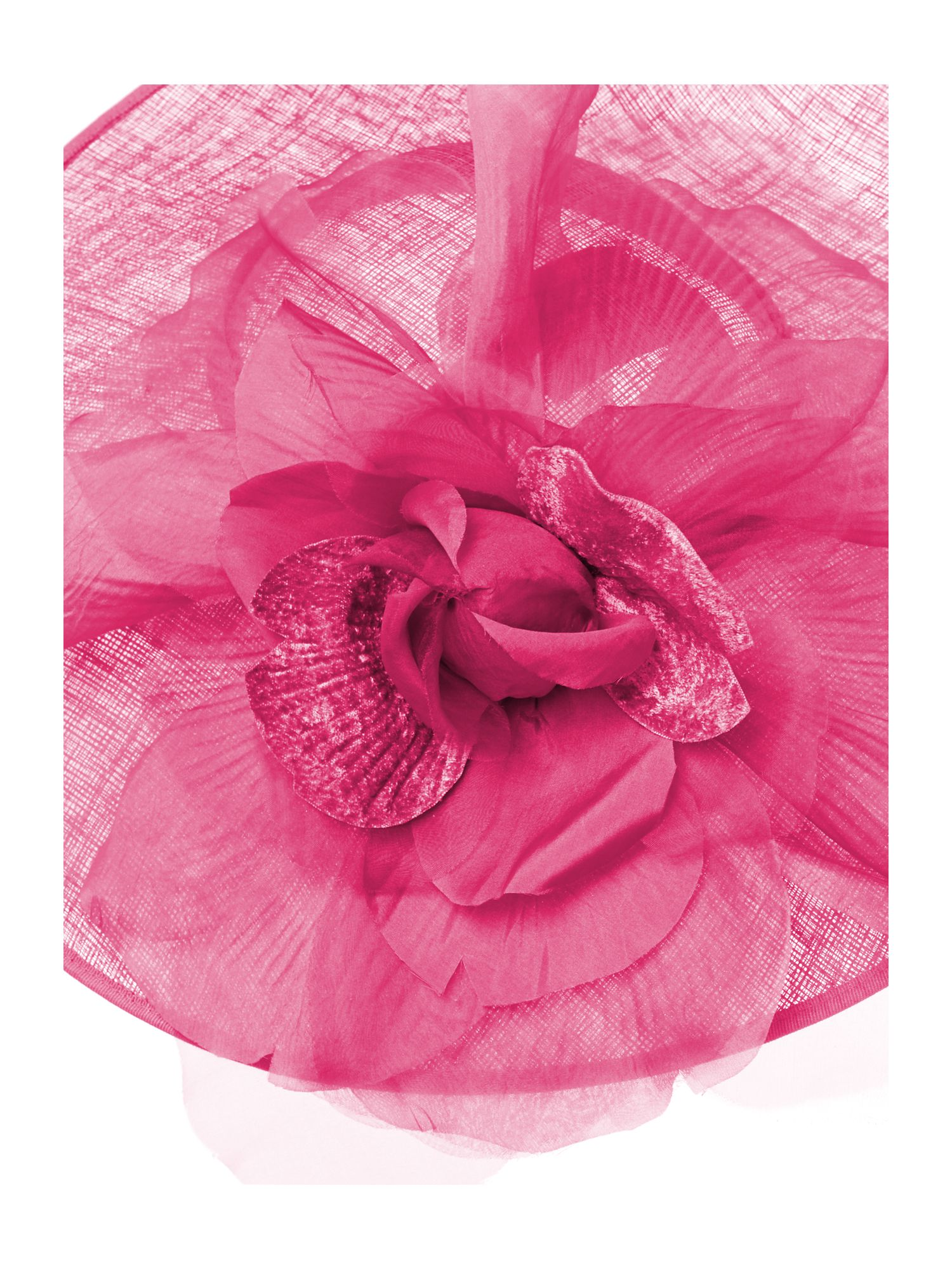 Flower and organza saucer