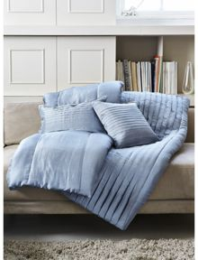 Louis bluey silk cushion 30x50cm