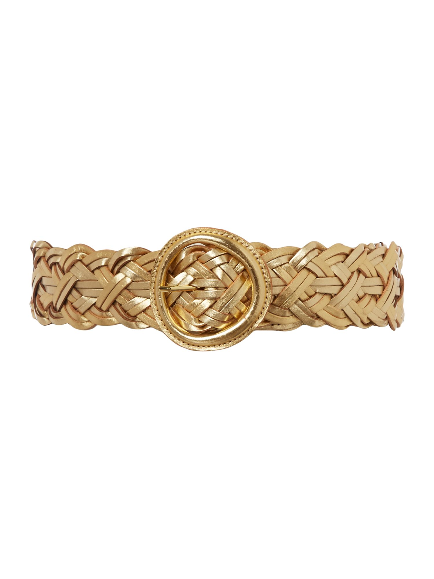Braided gold belt