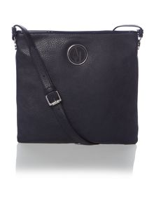 Navy medium cross body bag