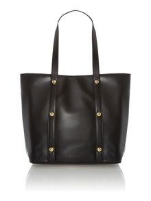 Black large studded shopper bag