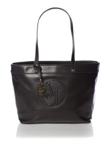 Black medium tote bag