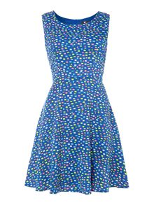 Multicoloured squares print dress