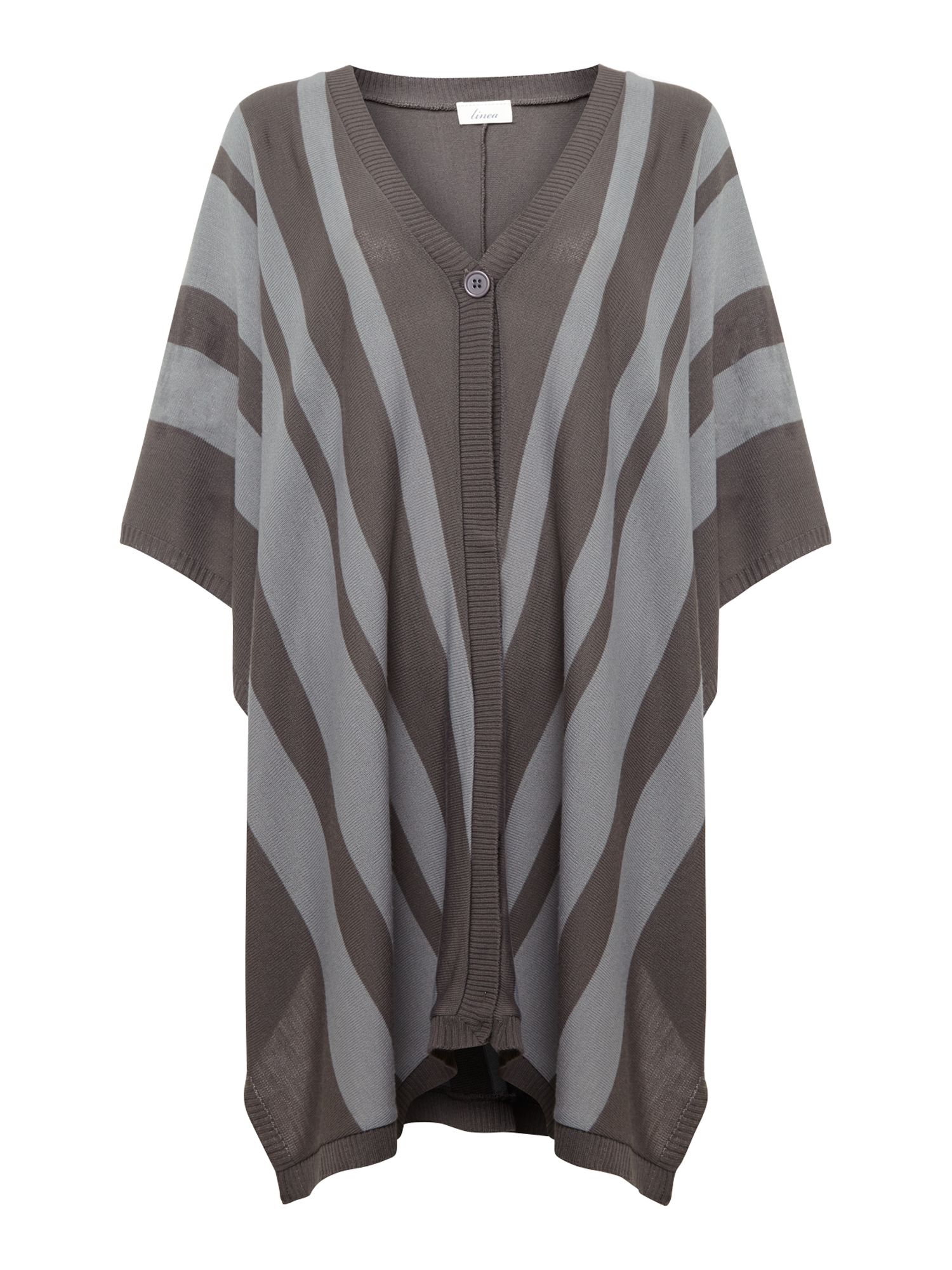 Chevron stripe ruana wrap