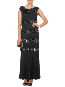 Noleen fringed maxi dress