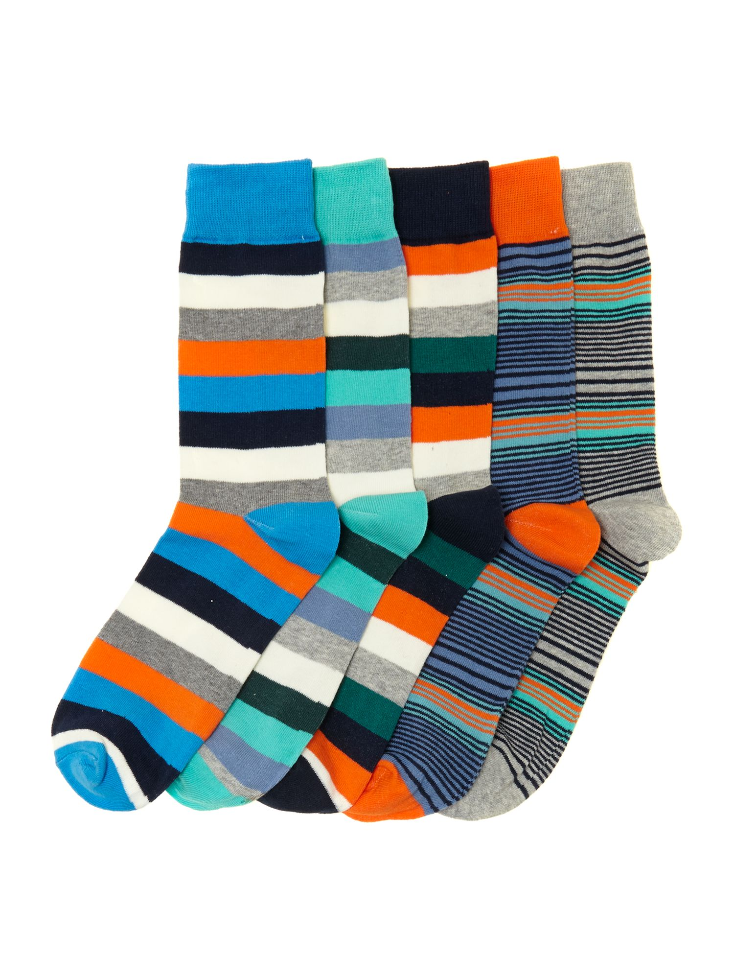 5 pack stripe socks