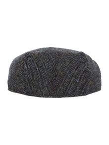 Failsworth Herringbone harris tweed flat cap