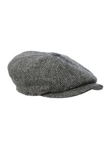 Harris tweed baker boy hat
