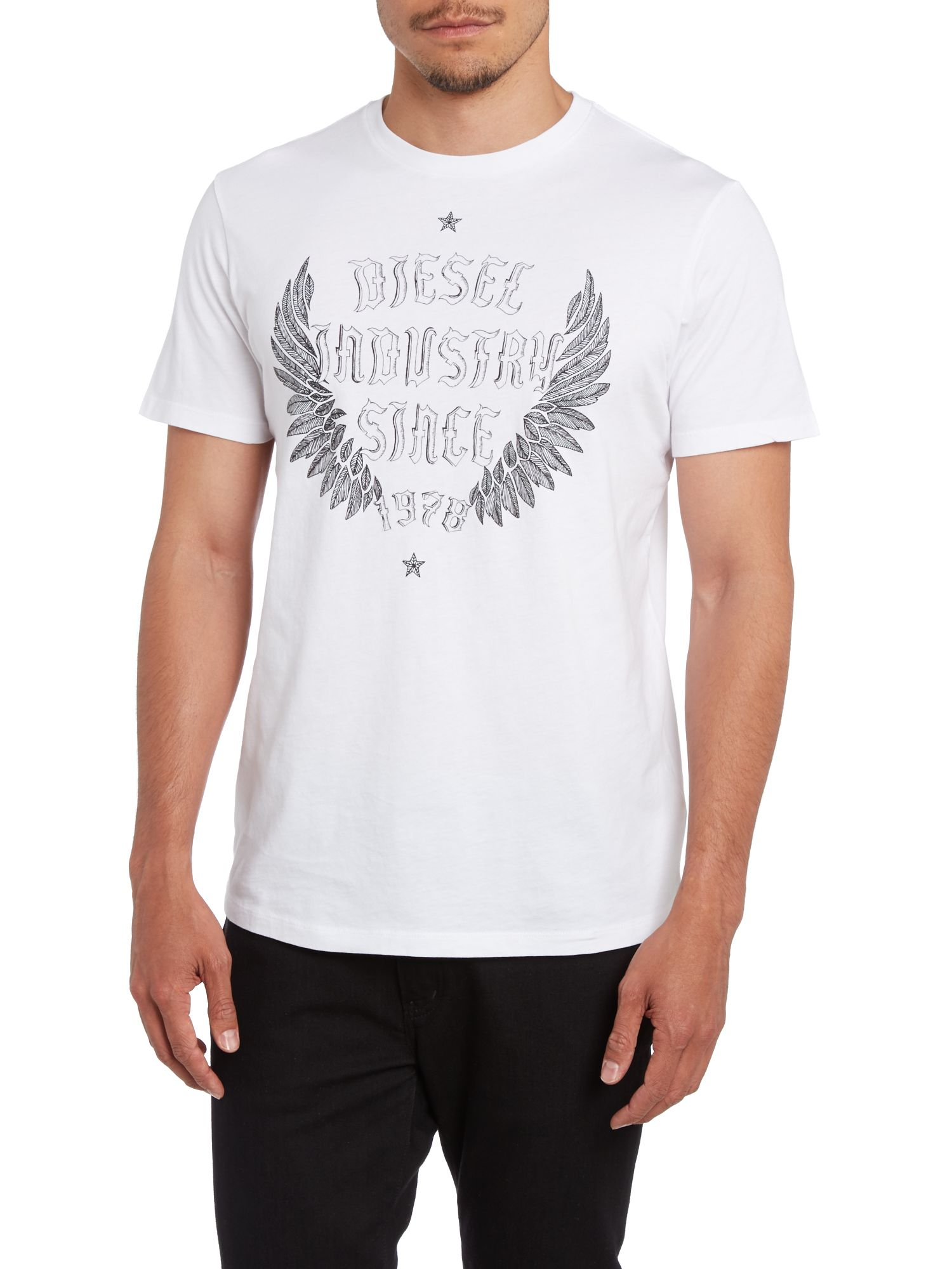 Wings 1978 print crew neck t shirt