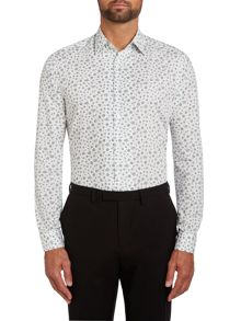 Floral spot slim fit shirt