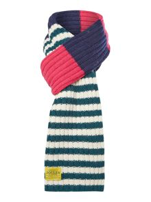 Bawdy stripe wool mix scarf