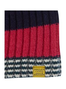 Bawdy stripe wool mix booble hat