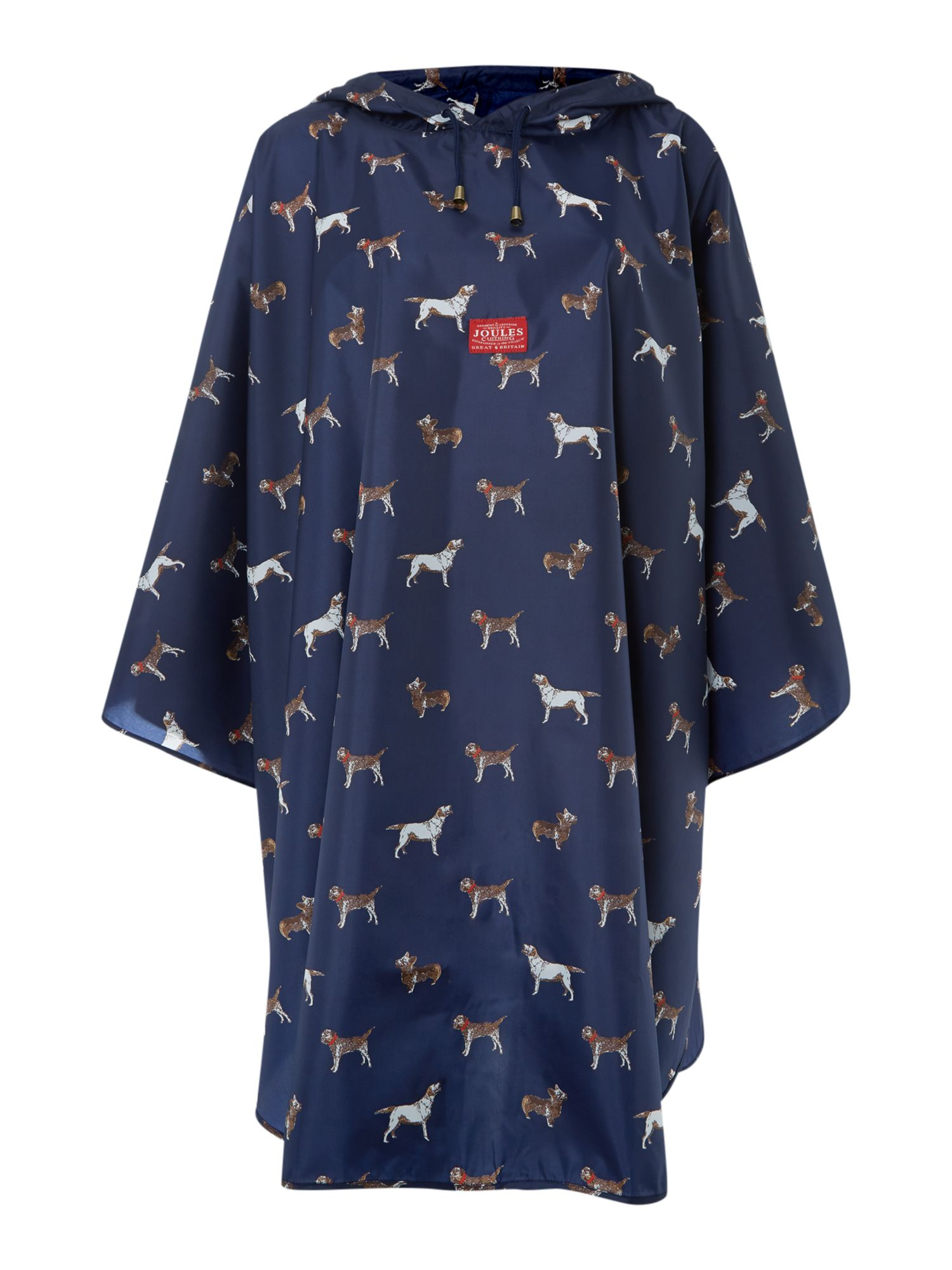 Navy dogs showerproof poncho