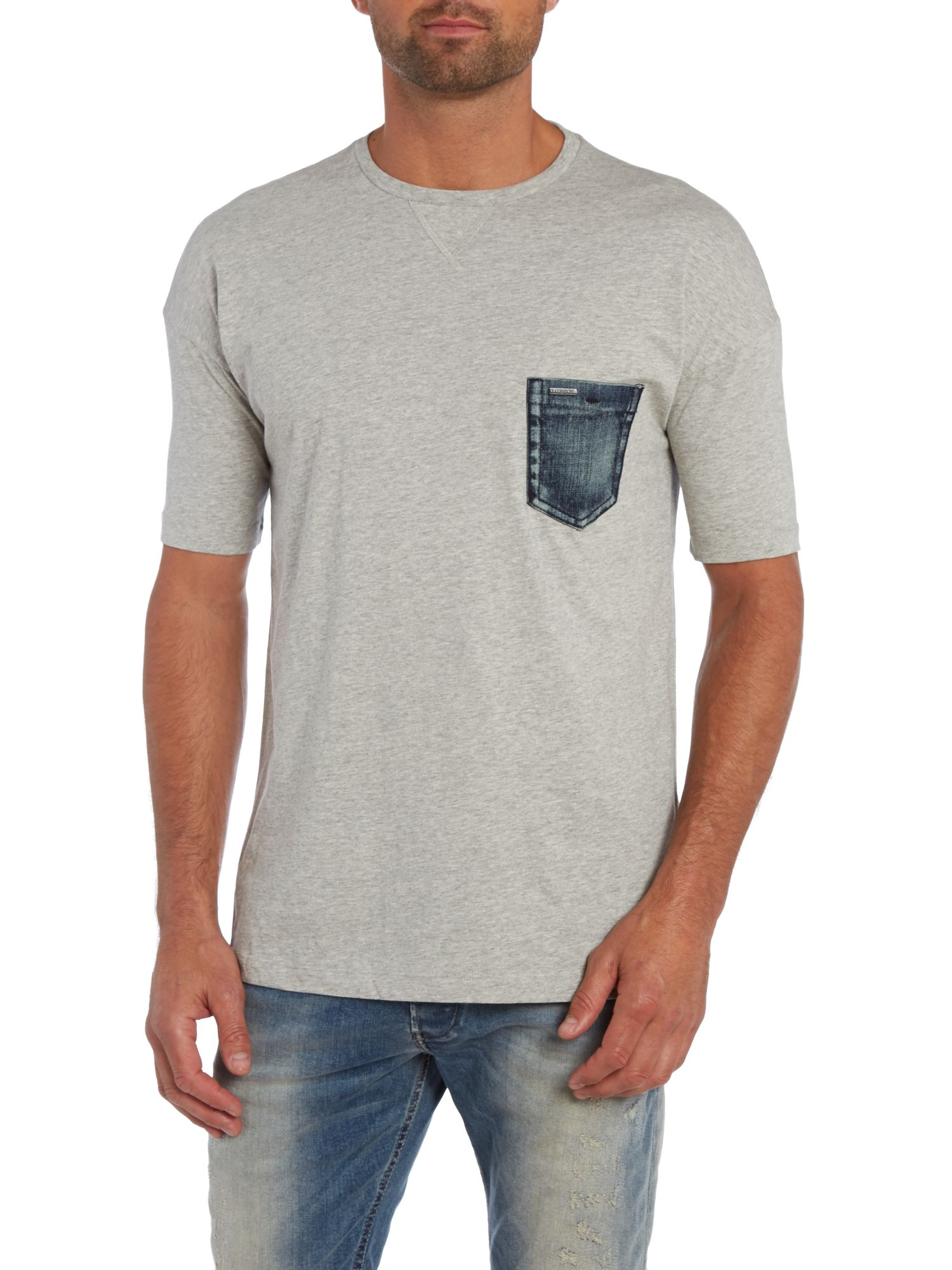 Denim pocket t shirt