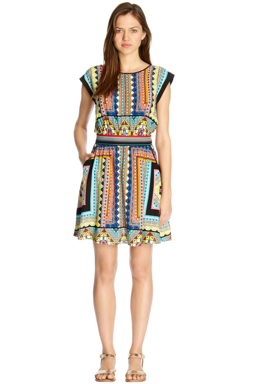 Placement tribal skater dress