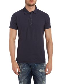 Short sleeve popper polo shirt