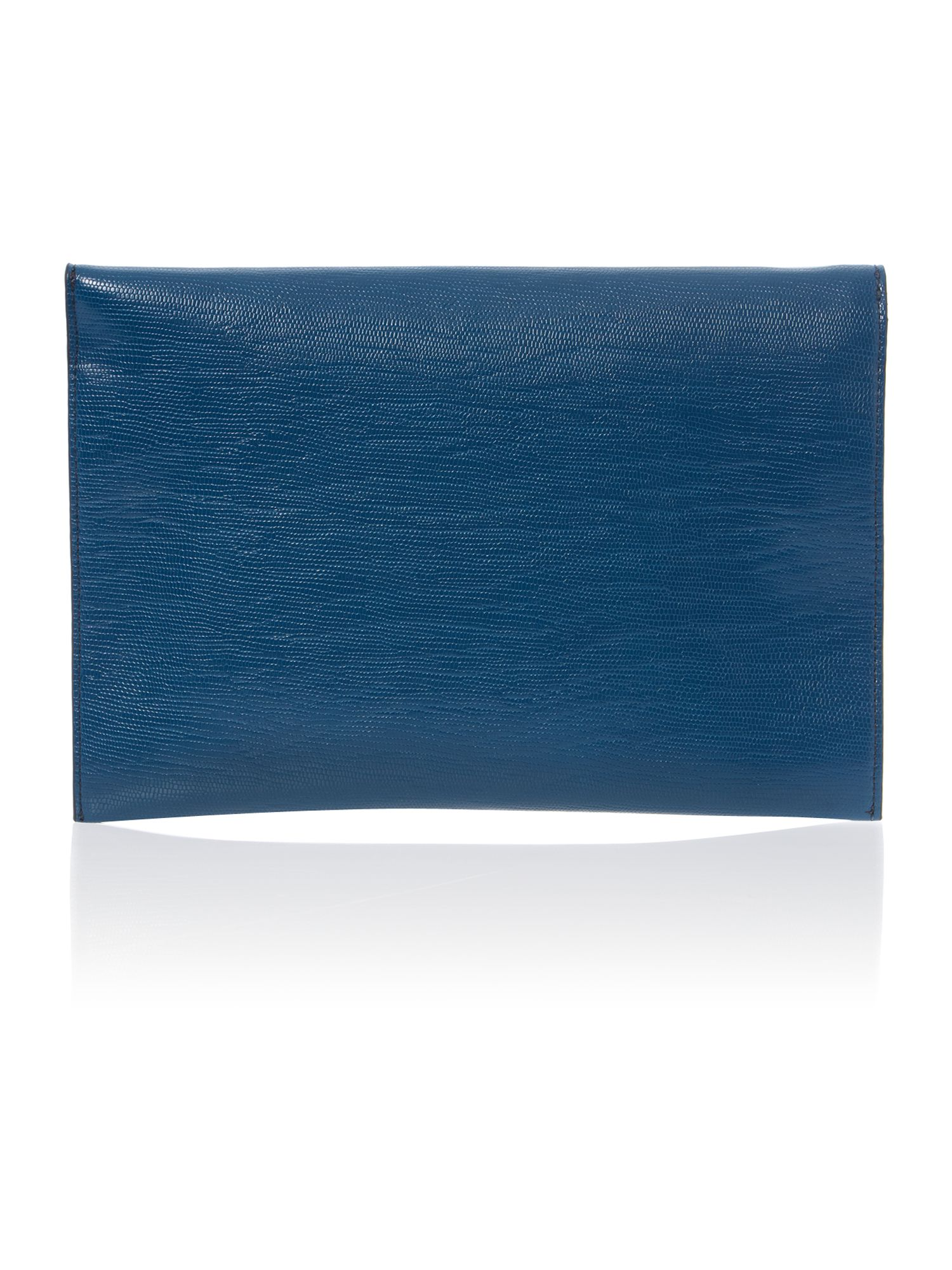 Navy envelope clutch bag with chain strap