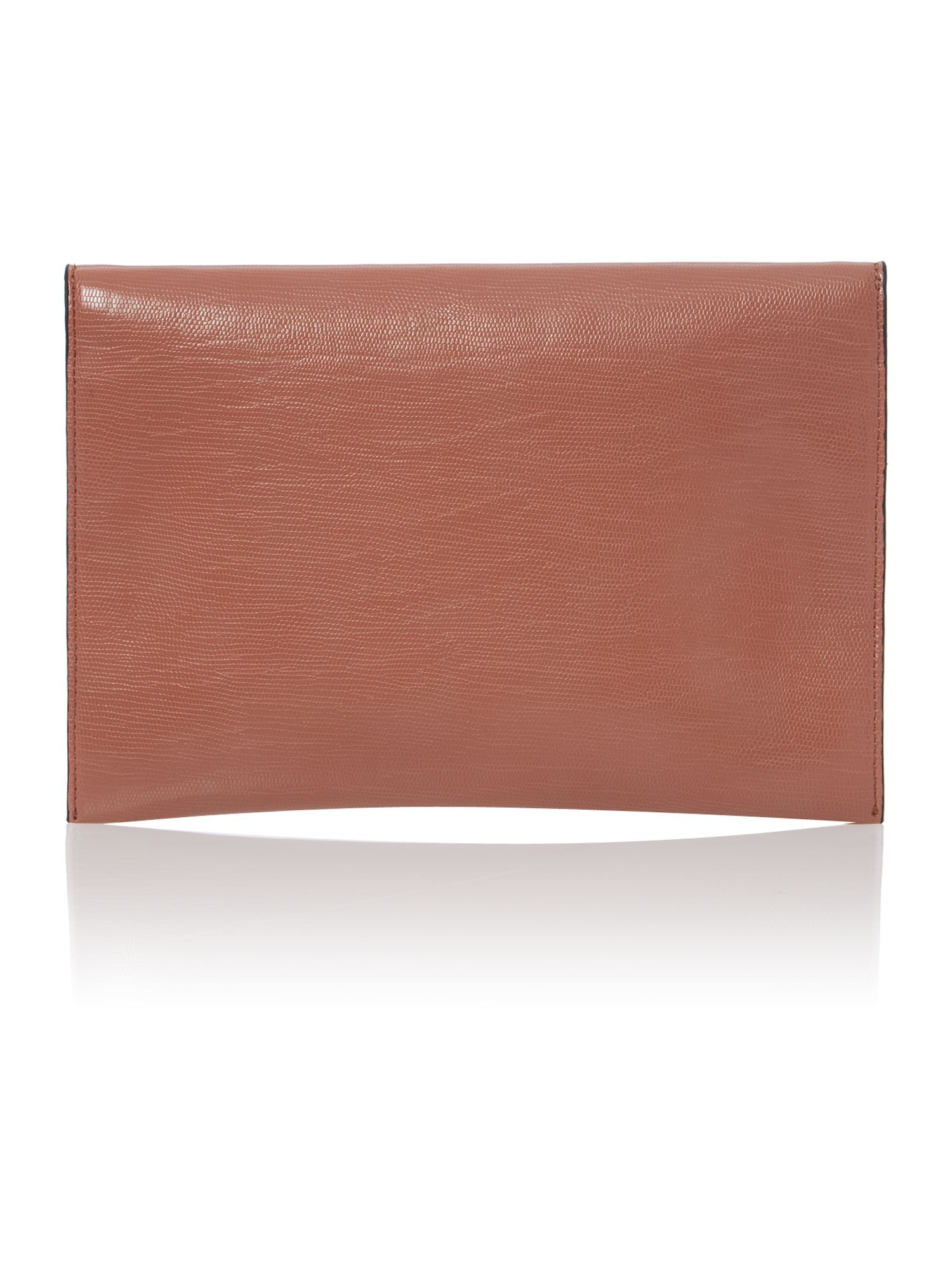 Pink envelope clutch with chain strap