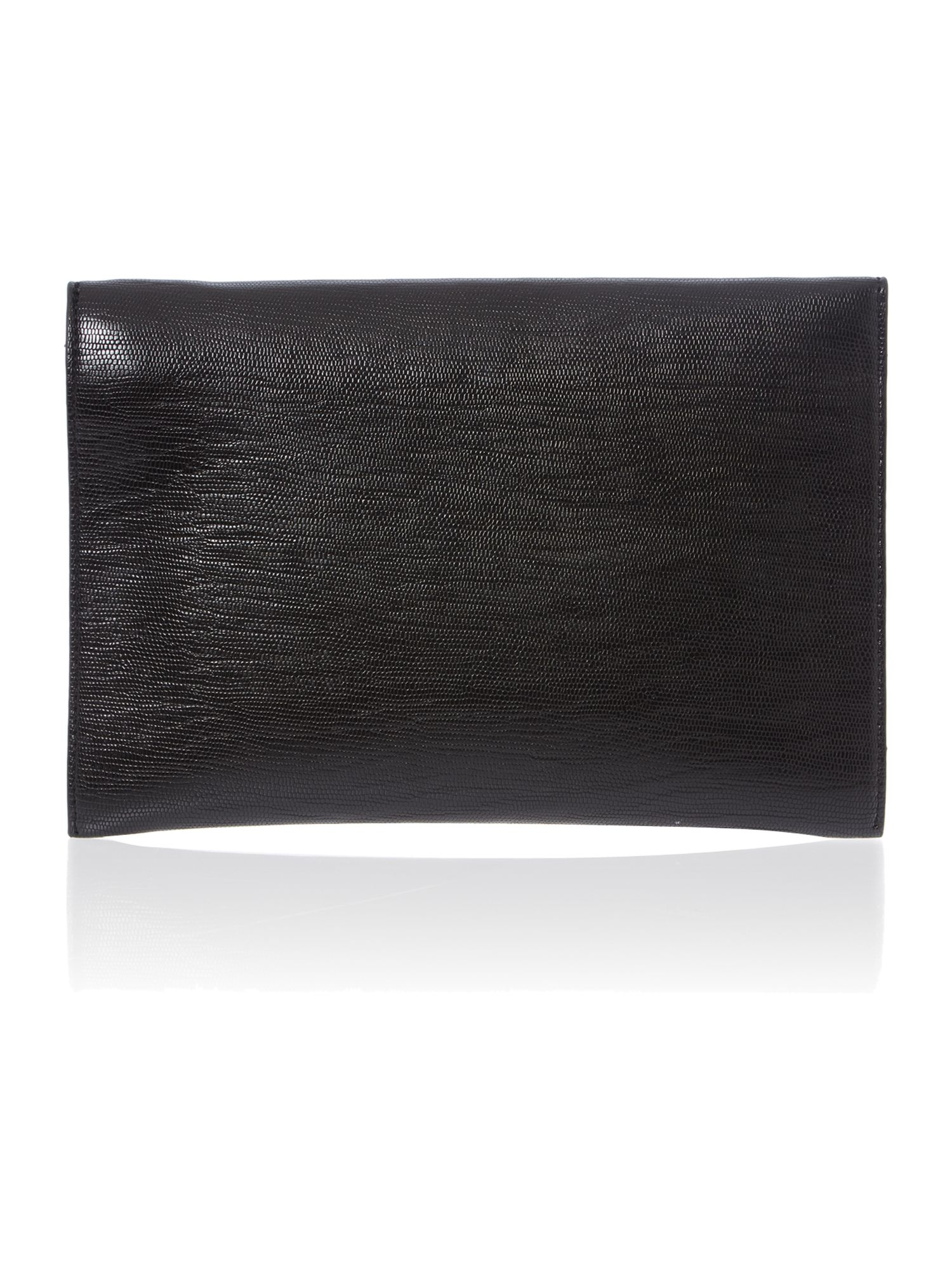 Black envelope clutch bag with chain strap