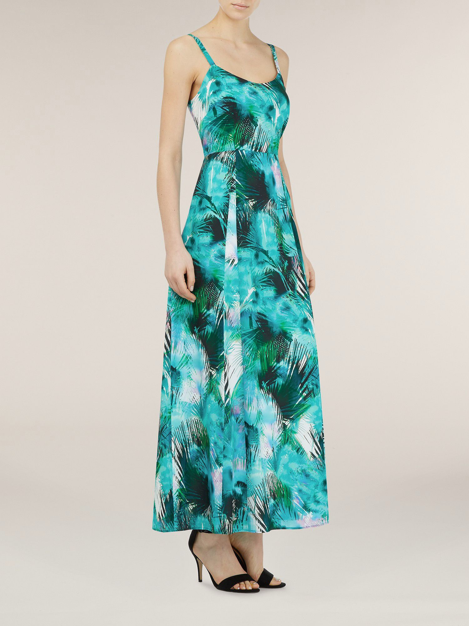 Palm print cami layer maxi
