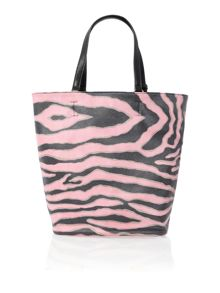 Pink zebra print hobo bag with purse
