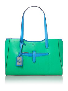 Green and blue large davenport tote bag