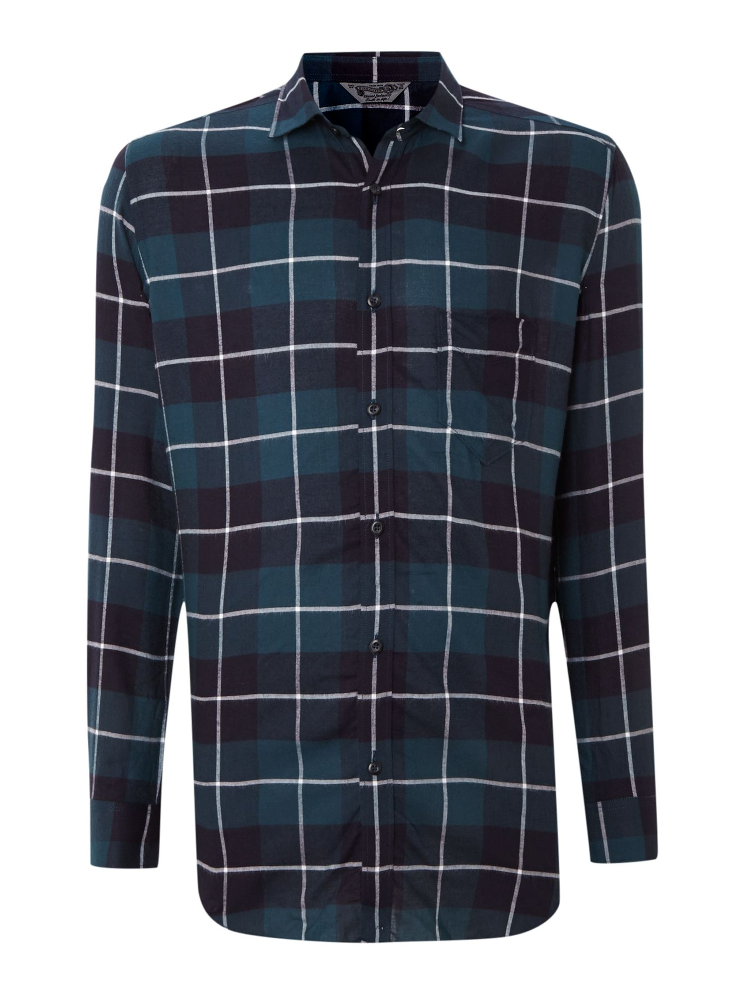 Long sleeve big check shirt