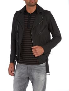 Diesel Belted cotton biker jacket