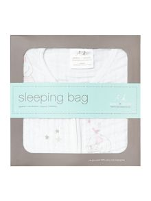 Aden & Anais Babys printed muslin sleeping bag in giftbox