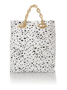 Candy multi-coloured spot large tote bag