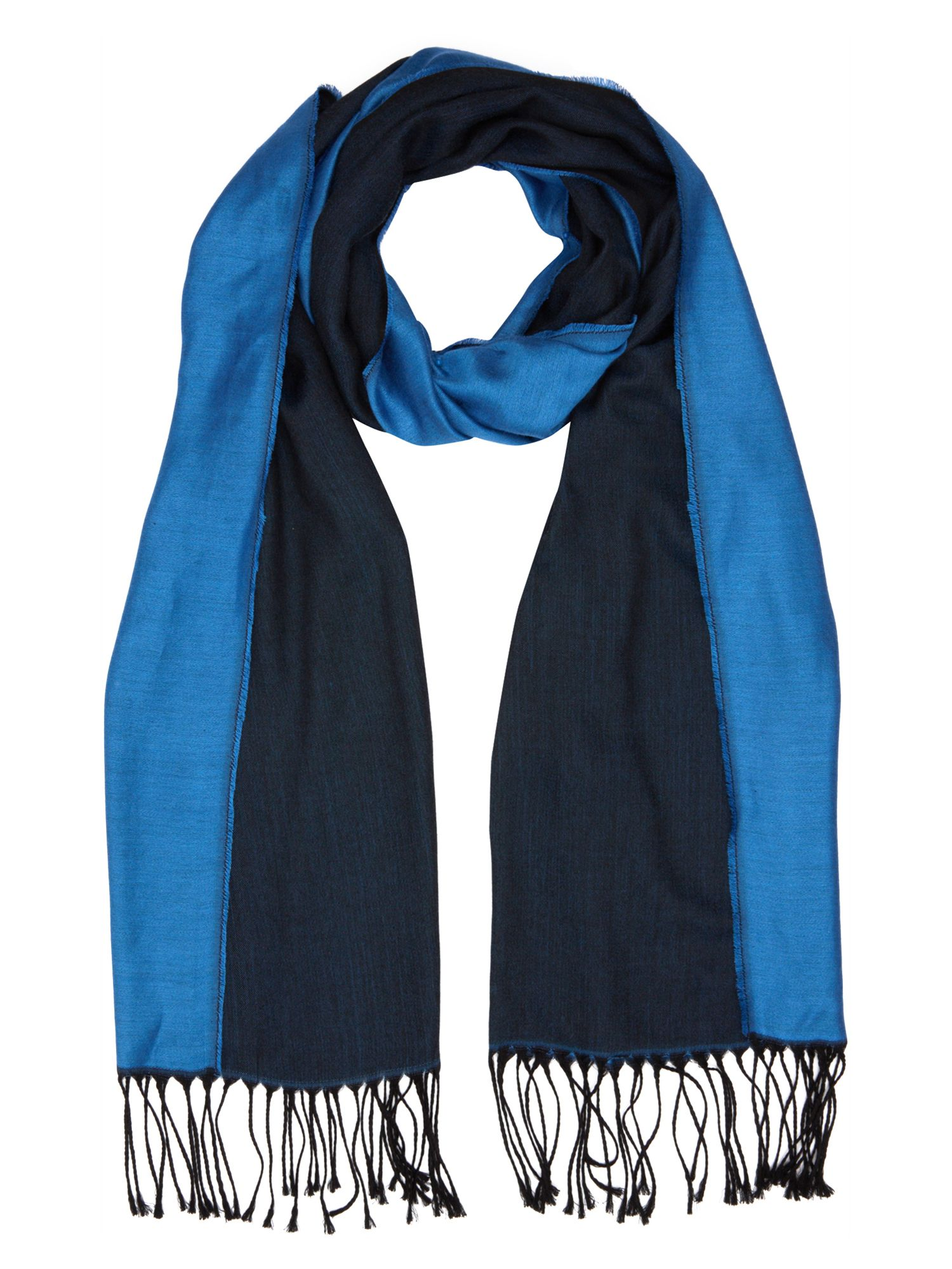 Double colour scarf