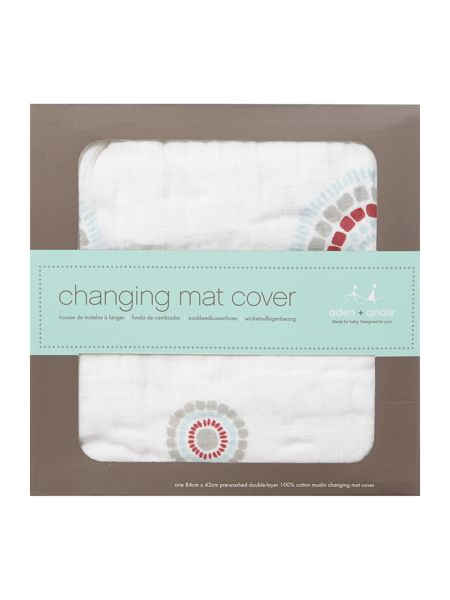 Aden & Anais Baby fitted muslin changing mat cover