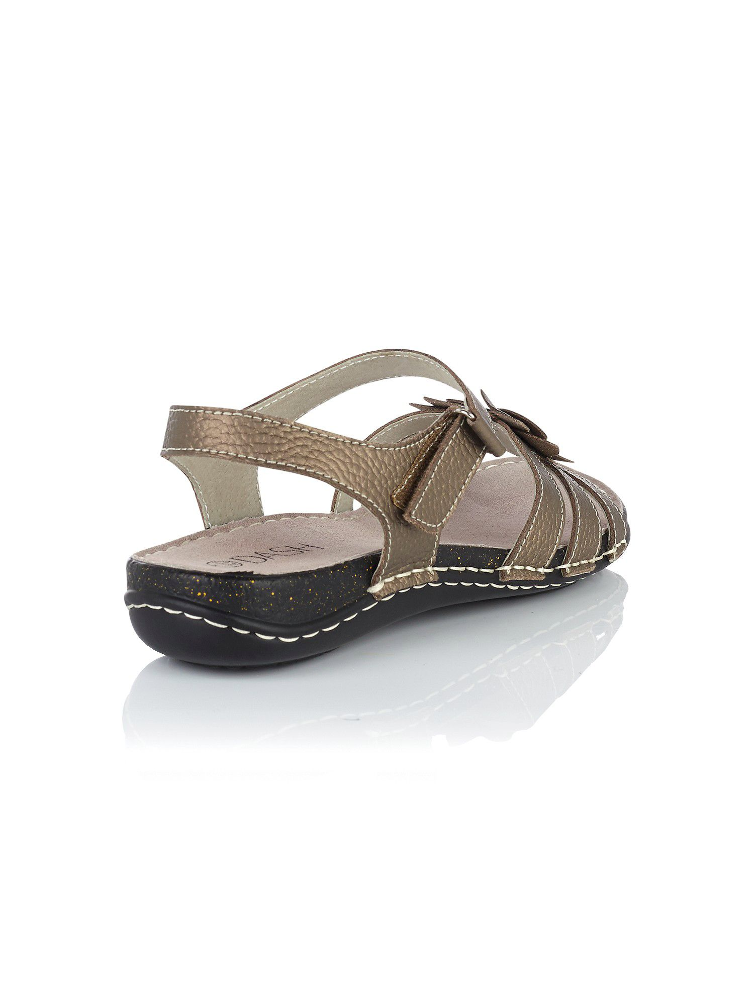 Pewter flower sandals
