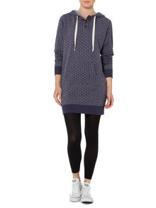 Dress blue jersey hooded spotty