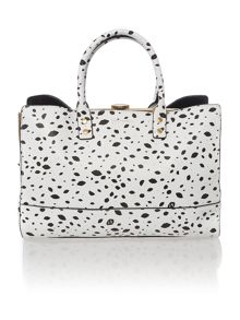 Daphne multi-coloured roughly cutout spot tote