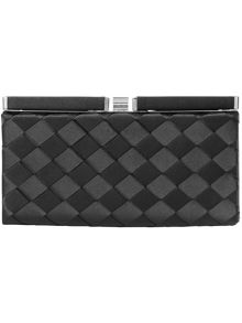 Evie weave clutch bag