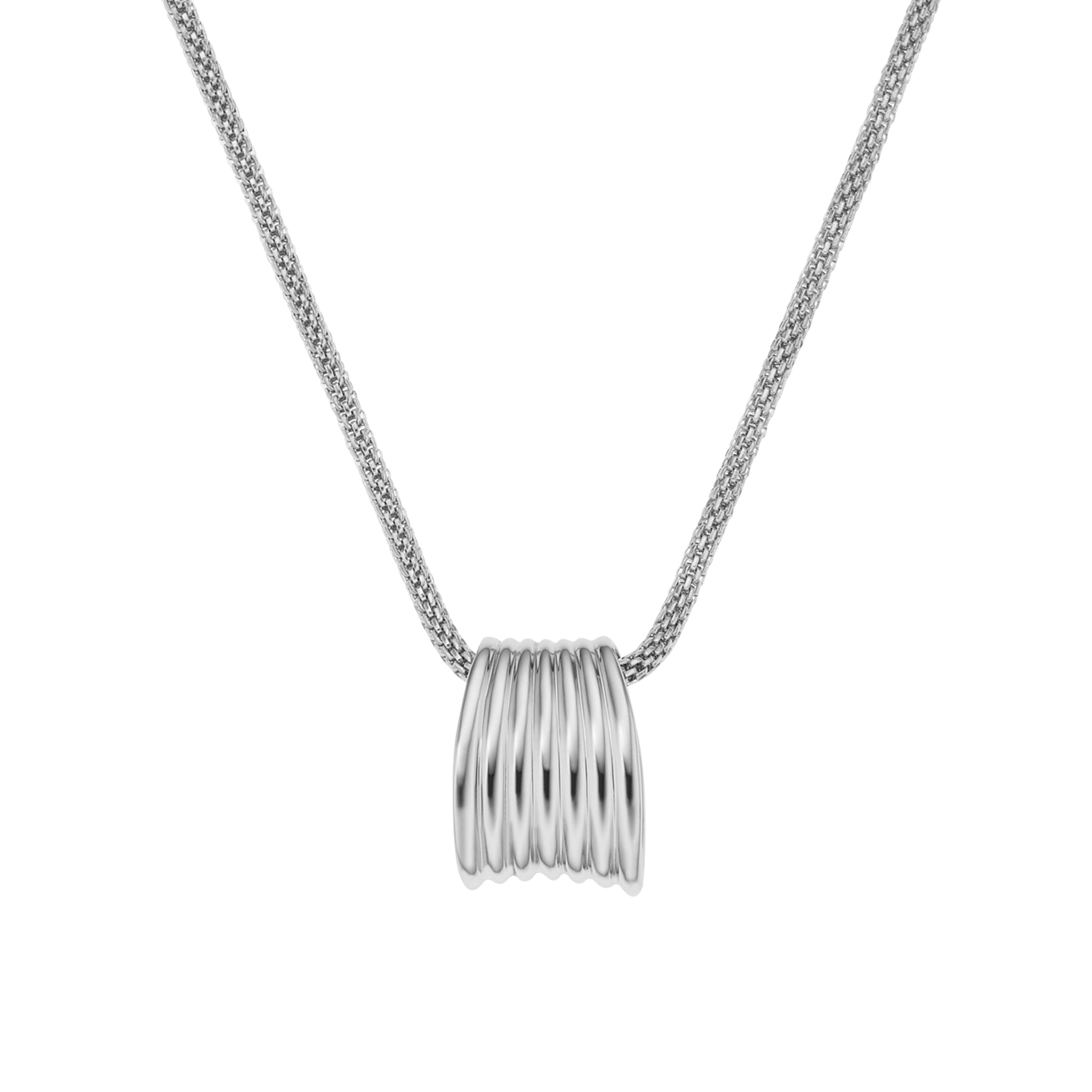 Classic silver steel necklace