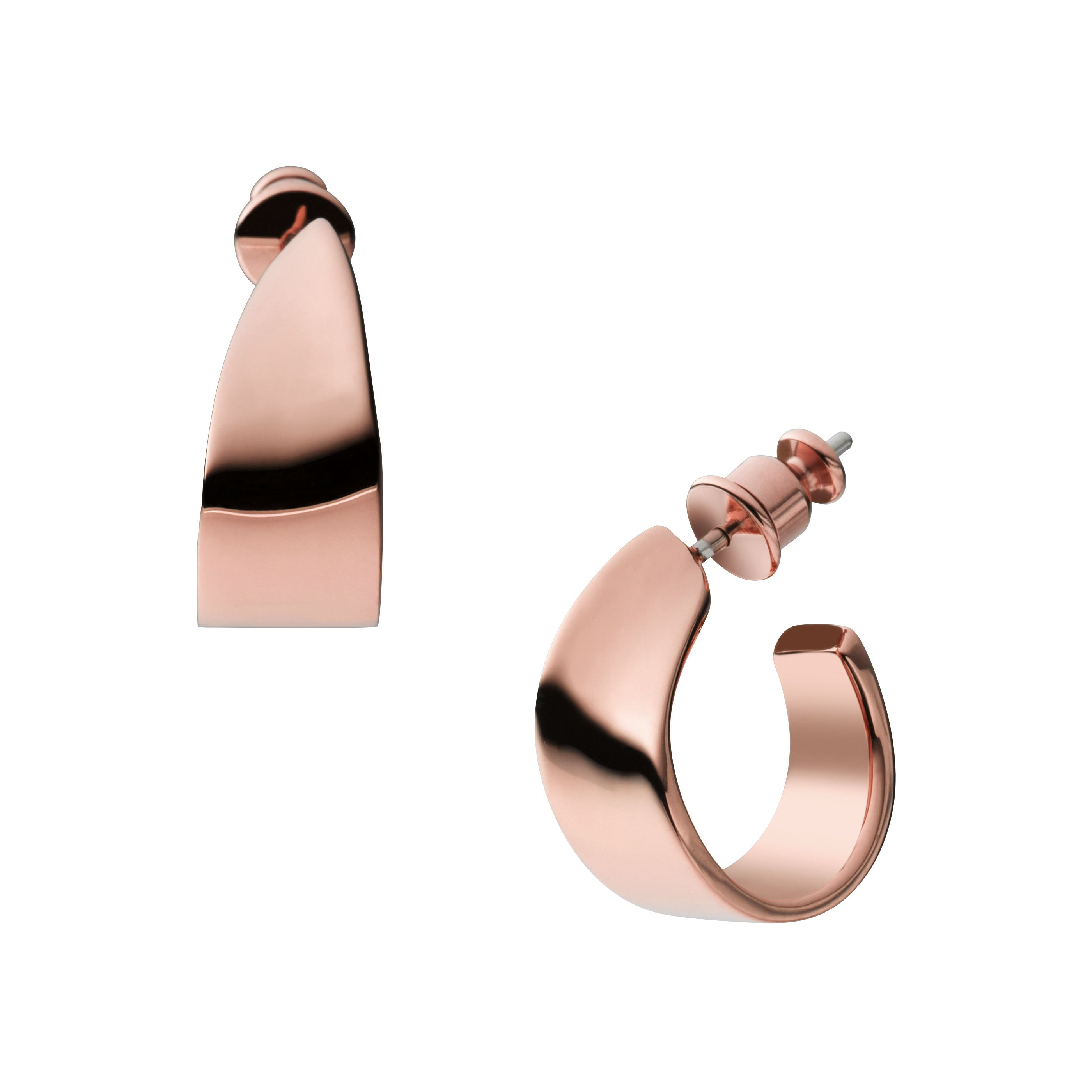 Classic rose gold tone  steel earrings