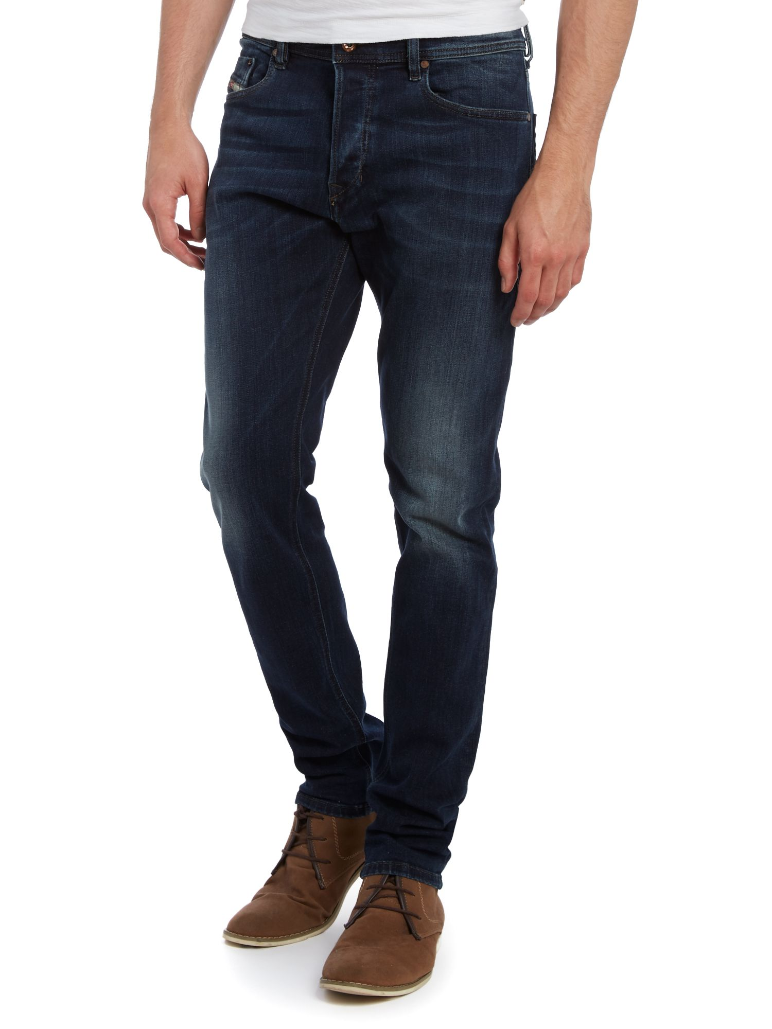 Tepphar 814W carrot dark wash jeans