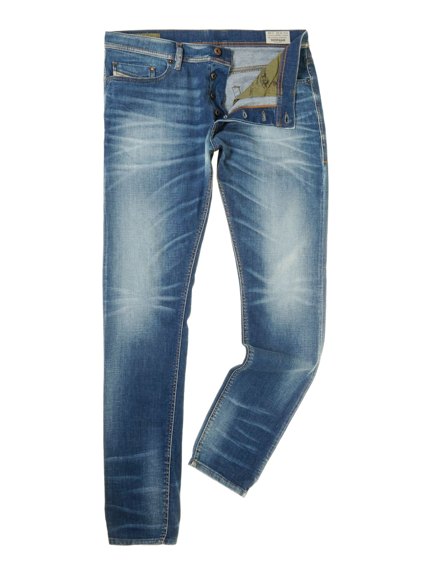 Tepphar 831D carrot mid wash jeans