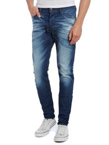 Tepphar 607P carrot mid rinse jeans